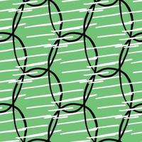 Vektor nahtlose Textur Hintergrundmuster. handgezeichnete, grüne, schwarze, weiße Farben.