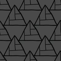 vektor sömlös textur bakgrundsmönster. handritade, svarta, grå färger.