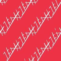 vektor sömlös textur bakgrundsmönster. handritade, röda, vita färger.