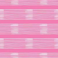 vektor sömlös textur bakgrundsmönster. handritade, rosa, vita färger.