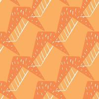 Vektor nahtlose Textur Hintergrundmuster. handgezeichnete, orange, weiße Farben.