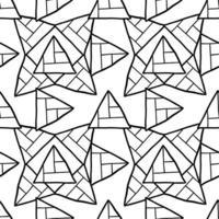 vektor sömlös textur bakgrundsmönster. handritade, svarta, vita färger.