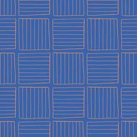 Vektor nahtlose Textur Hintergrundmuster. handgezeichnete, blaue, orange Farben.
