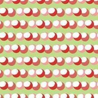 Vektor nahtlose Textur Hintergrundmuster. handgezeichnete, grüne, rote, rosa, weiße Farben.