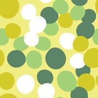 vektor sömlös textur bakgrundsmönster. handritade, gula, gröna, vita färger.