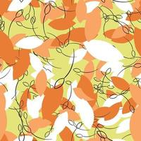 Vektor nahtlose Textur Hintergrundmuster. handgezeichnete, gelbe, orange, schwarze, weiße Farben.