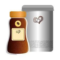 branding mockup kafé, kaffe flaskor