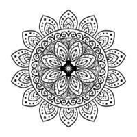 Blumenmandala auf weißem Hintergrund, Vintage Luxusmandala vektor