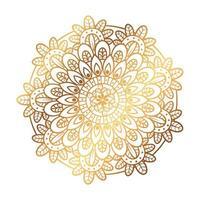 gyllene mandala i vit bakgrund, vintage lyx mandala vektor