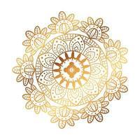 goldenes Mandala auf weißem Hintergrund, Vintage Luxusmandala vektor
