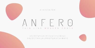 abstrakte dünne Linie Schrift Alphabet Alphabet gesetzt vektor