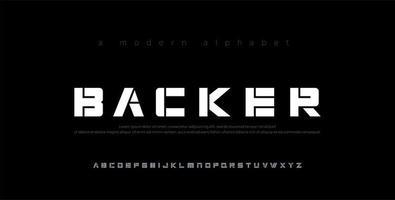 abstrakta minimala moderna alfabetsteckensnitt vektor