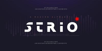 abstrakta digitala moderna alfabetsteckensnitt
