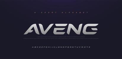 sport modern framtid kursiv alfabetet teckensnittsuppsättning vektor