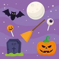 Halloween Kürbis Cartoon Vektor Design