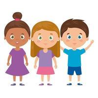 niedliche kleine Kinder Avatar Charakter