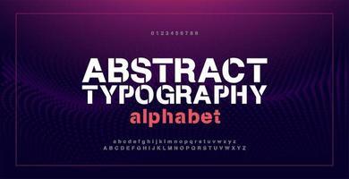 abstrakta moderna alfabetsteckensnitt och siffror vektor