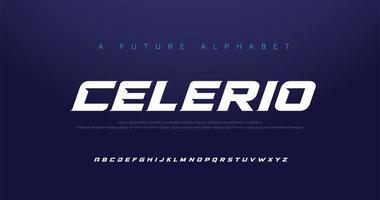 Sport moderne kursive Alphabet Schriftart gesetzt