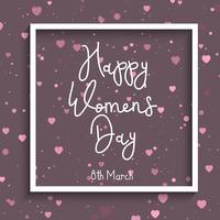Kvinnors dag hjärta bakgrund