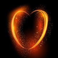 Glödande hjärta bakgrund vektor