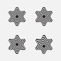 geometriska stjärnform vektor. abstrakt grafisk element design