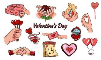 Alla hjärtans dag ikoner. vektor