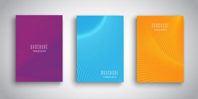 Broschürenvorlagen mit abstrakten Designs vektor