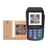 QR-Code im Dataphon-Vektor-Design