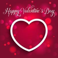 Dekorations Valentinsdag hjärta bakgrund vektor
