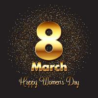 Guld kvinnors dag bakgrund