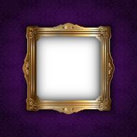 Guldram på elegant bakgrund vektor