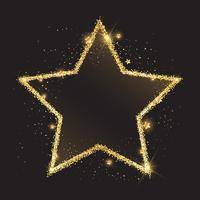 Glittery Goldsternhintergrund vektor
