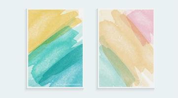 akvarell pensel stil täcka formgivningsmall vektor