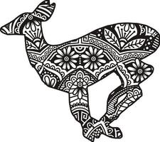 Tiervektor-Mandala-Linienkunststil vektor