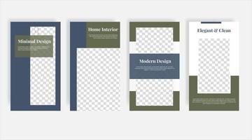minimale Home Interior Social Media Geschichten Vorlage