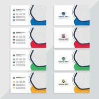 visitkortsmall med olika färger vektor