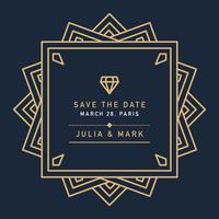 Dunkle Art-Deco-Hochzeit vektor
