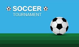 fotboll och fotboll grönt fält, vektordesign