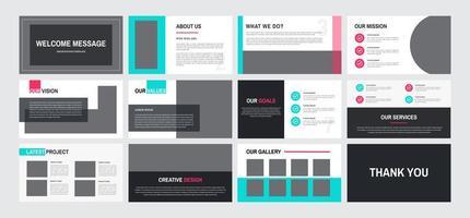 12-sidig presentationsmall för möbeldesign vektor