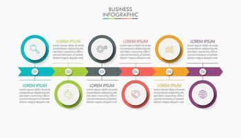 Pfeil Infografik Vorlage 6 Schritte vektor