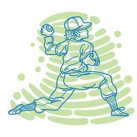 Abstrakt basebollspelare vektor