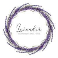Blumenkranz aus Aquarell-Lavendel vektor