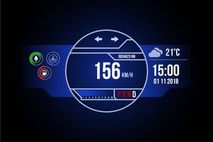 Unik Bil Dashboard UI Vektorer