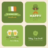 Schriftzug für St. Patrick's Day vektor