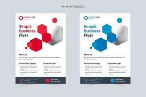 einfache a4 Corporate Business Flyer Vorlage vektor