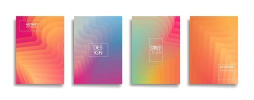 helle Farbverlaufsfarbe abstraktes Linienmuster Hintergrundabdeckungsdesign