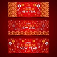 glückliche chinesische Neujahrs-Webbannersammlung vektor
