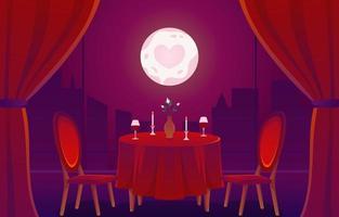 romantisches Date in einem Cafe-Konzept vektor
