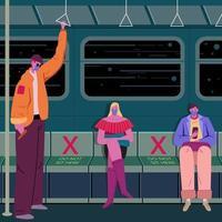 neue Normalität im öffentlichen Verkehr vektor