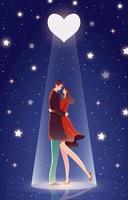 schönes Paar auf einem Date vektor
